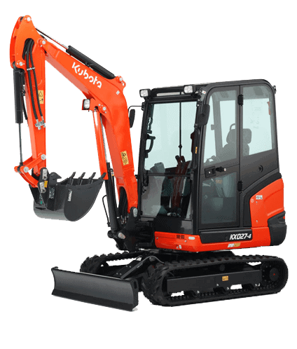 kubota kx27 mini digger hire